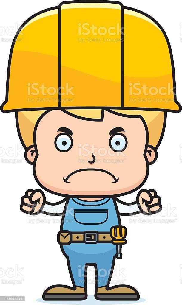 Bauarbeiter bei der arbeit comic  Comic Wütende Bauarbeiter Jungen Vektor Illustration 478995318 ...