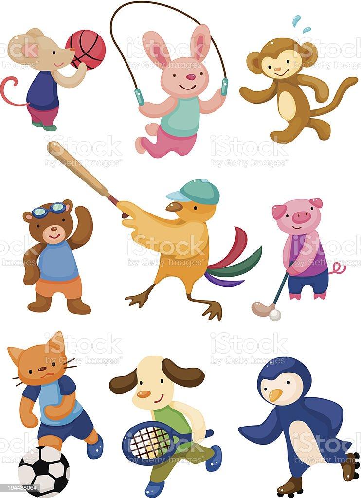 cartoon animal sport player royalty-free stock vector art