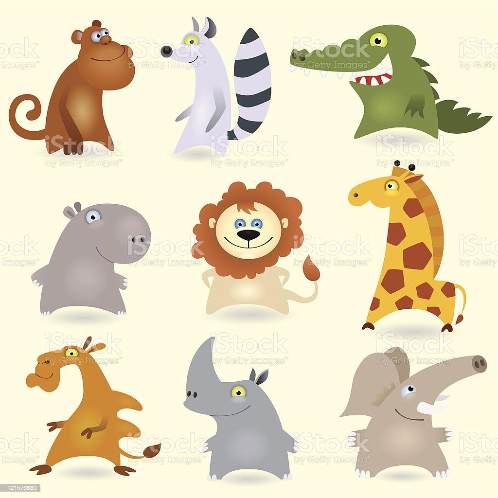 Cartoon animals set #3 royalty-free stock vector art