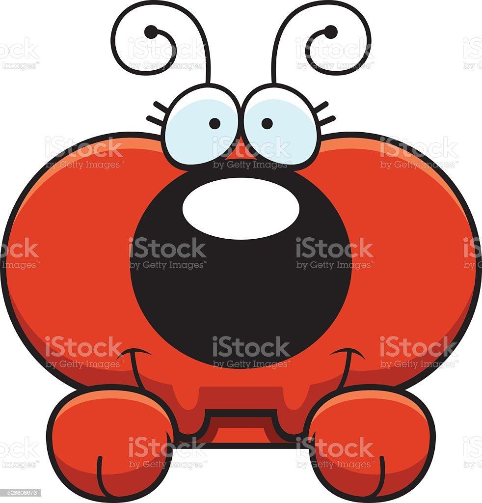 Cartoon Ant Peeking vector art illustration