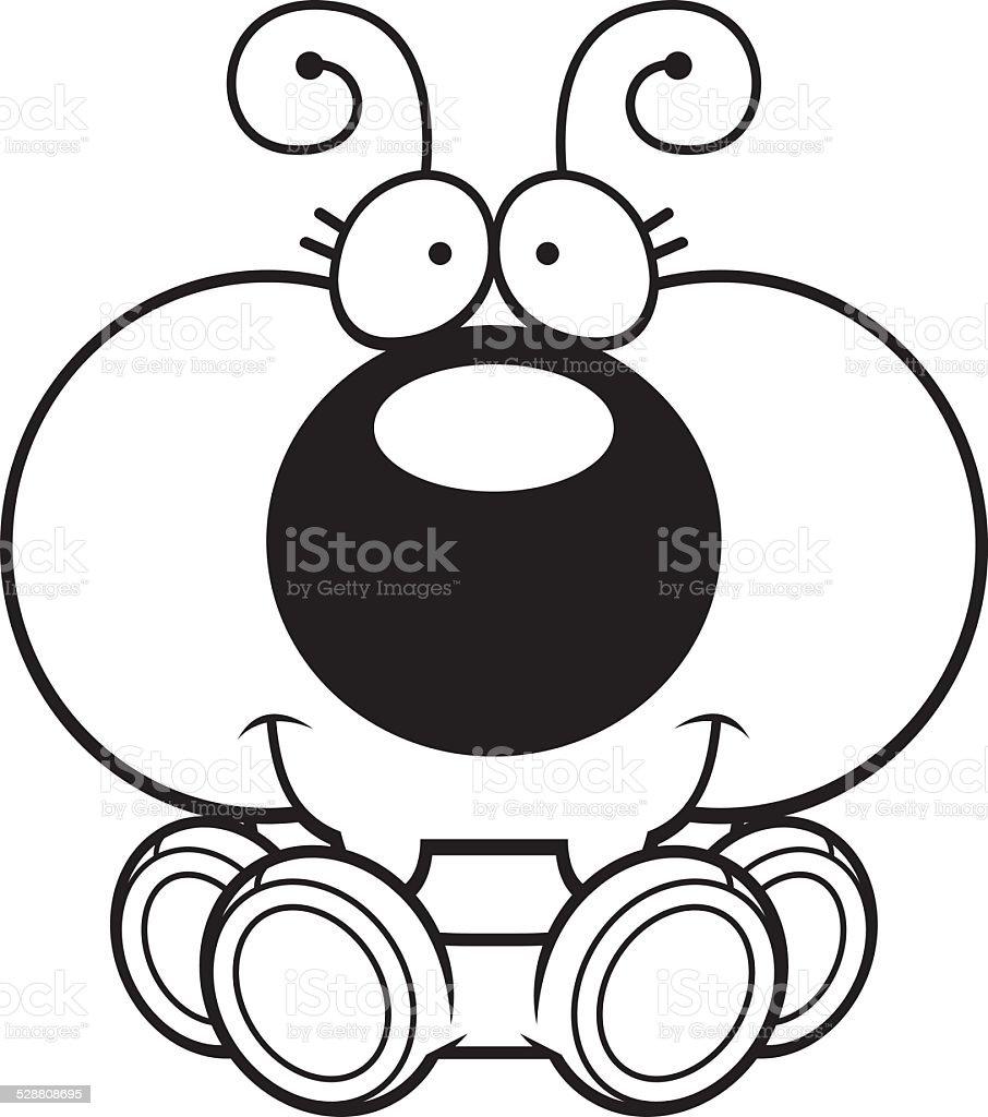 Cartoon Ant Sitting vector art illustration