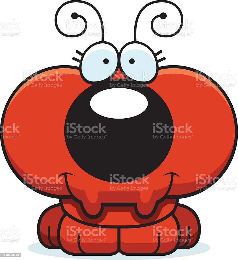 Cartoon Ant Smiling vector art illustration