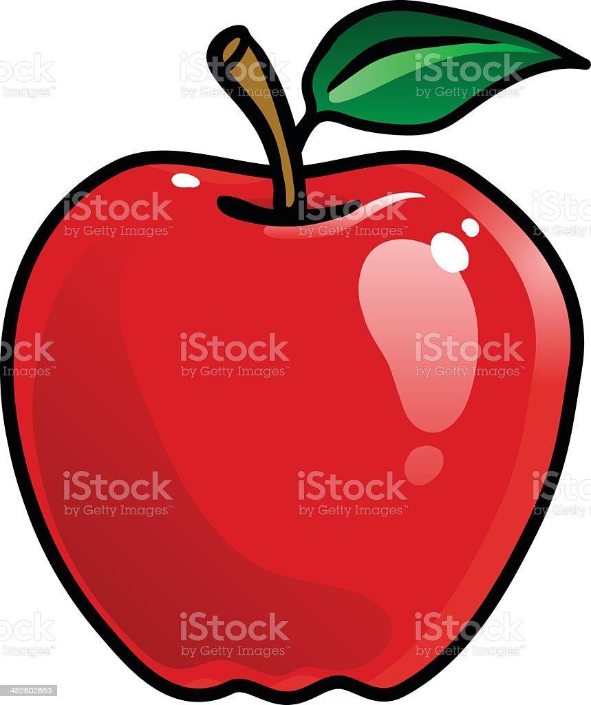 Cartoon Apple vector art illustration