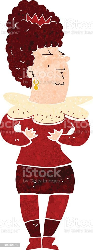 cartoon aristocratic woman vector art illustration