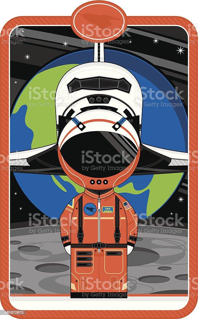 луна и космонавт фото мультяшные