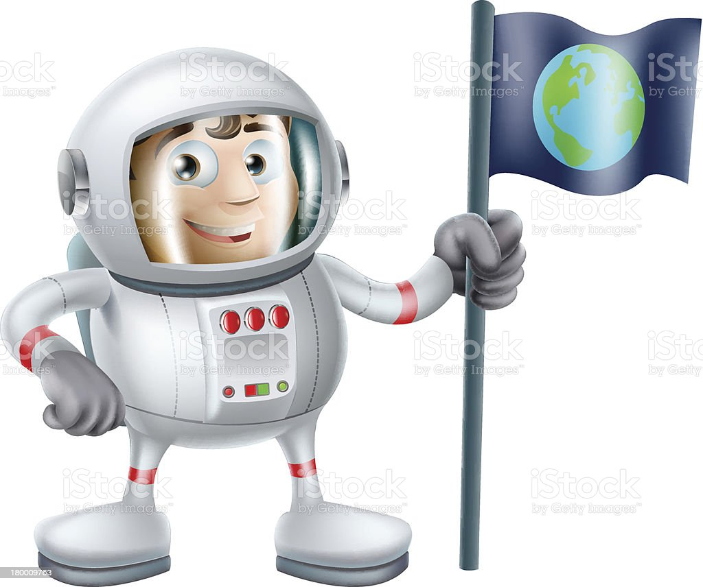 Cartoon Astronaut royalty-free stock vector art