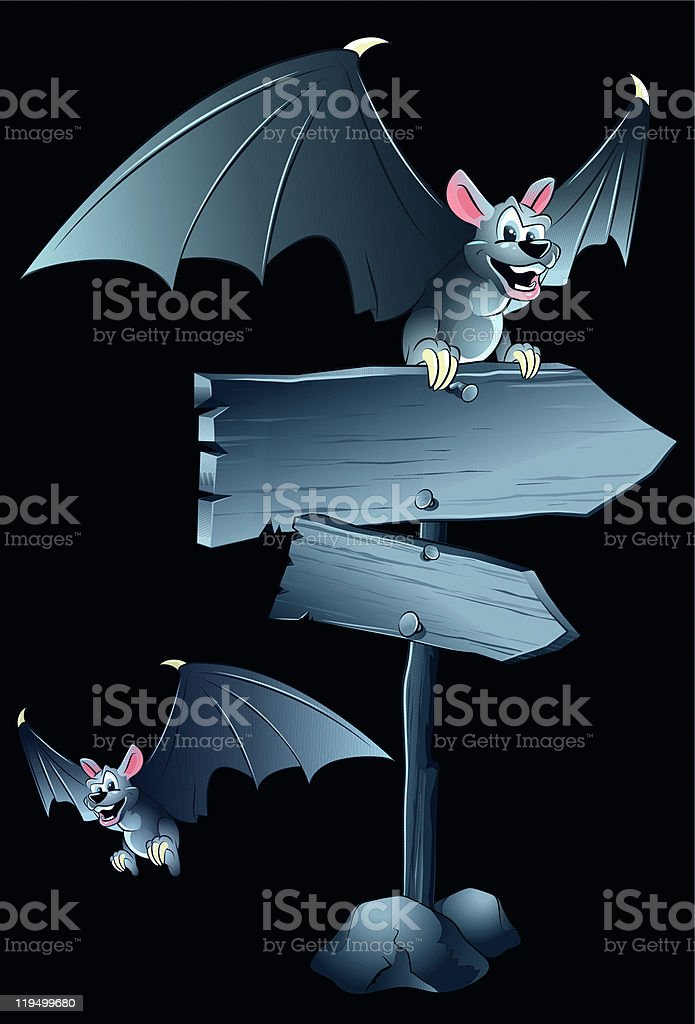 Cartoon bats royalty-free stock vector art