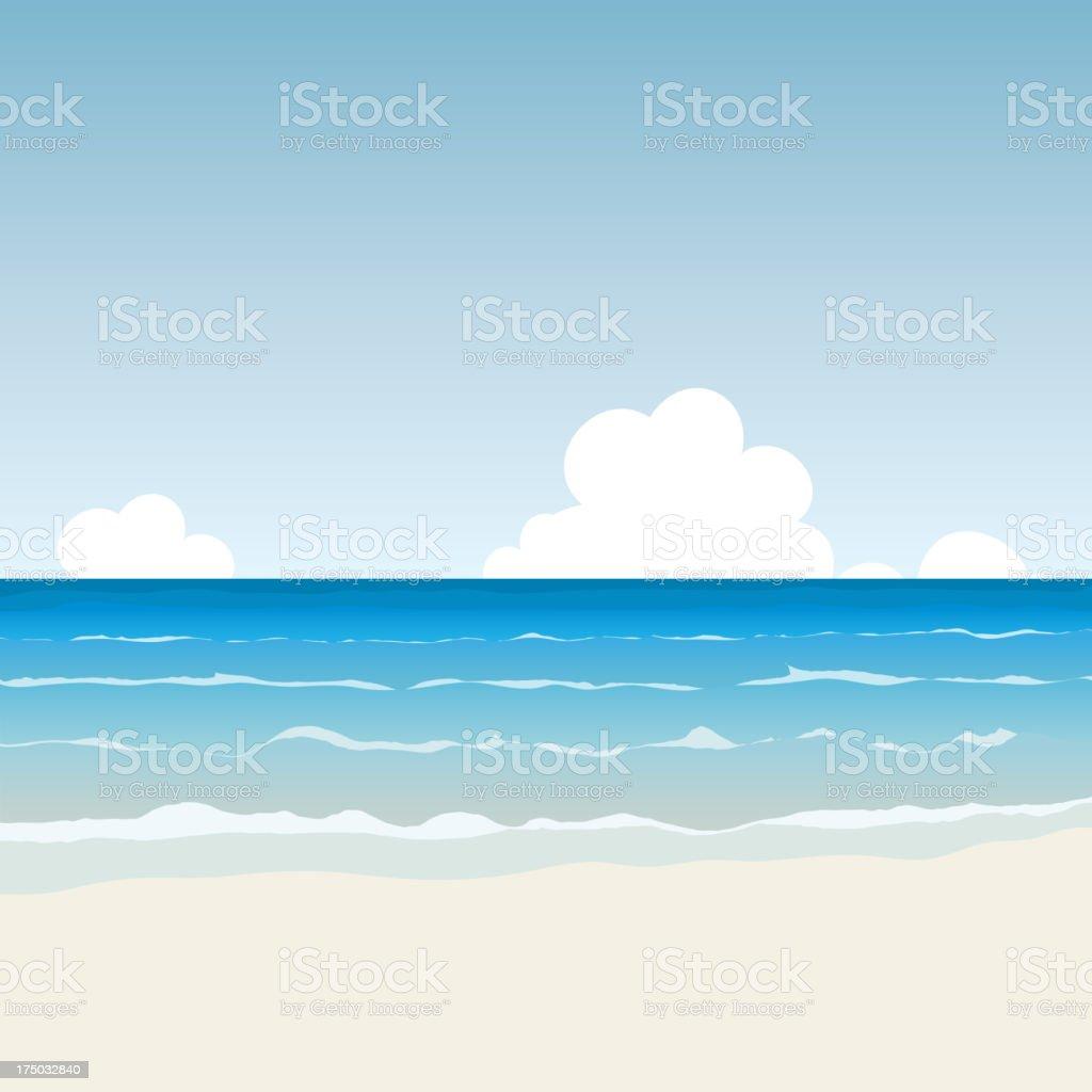 Cartoon Beach royalty-free stock vector art