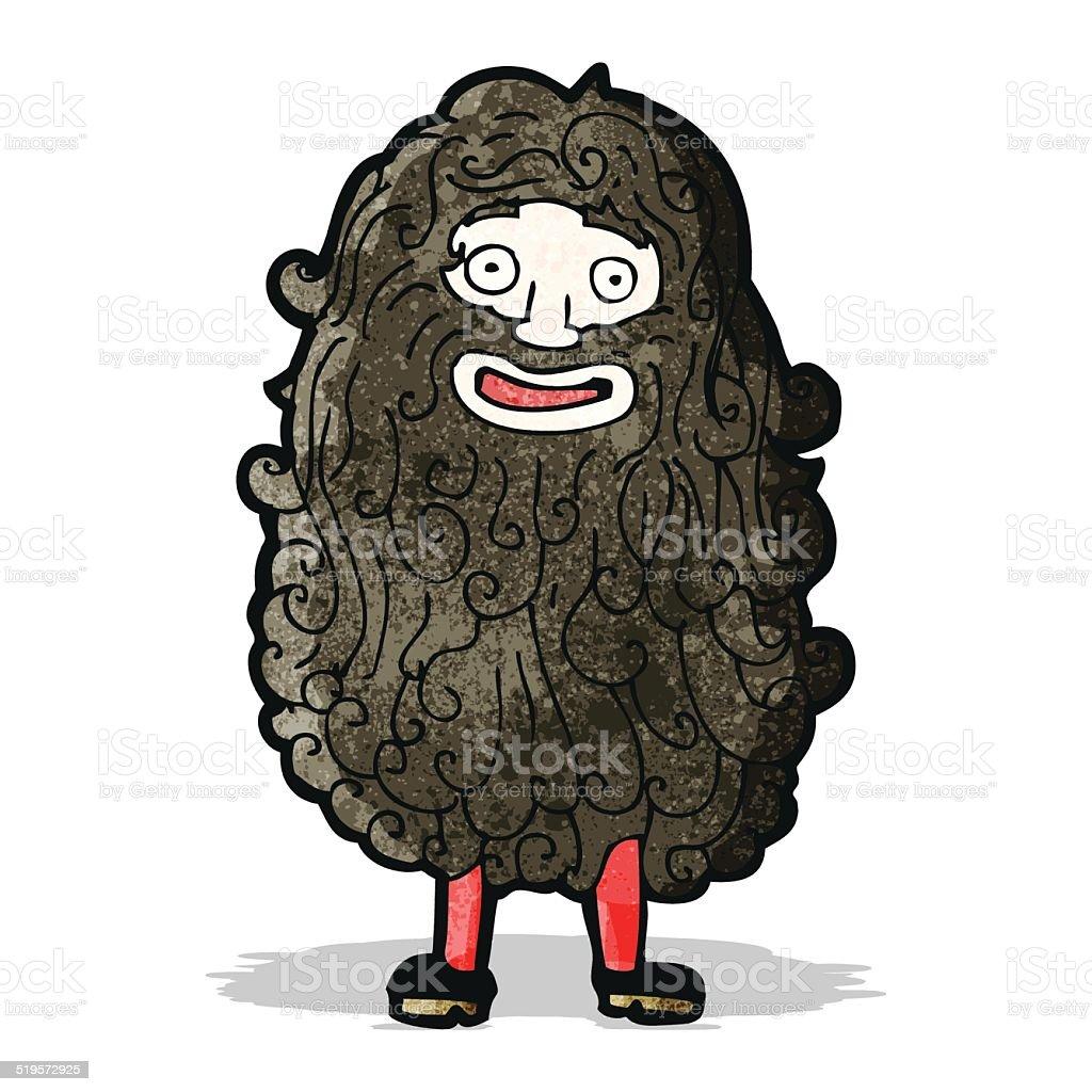 cartoon bearded man vector art illustration