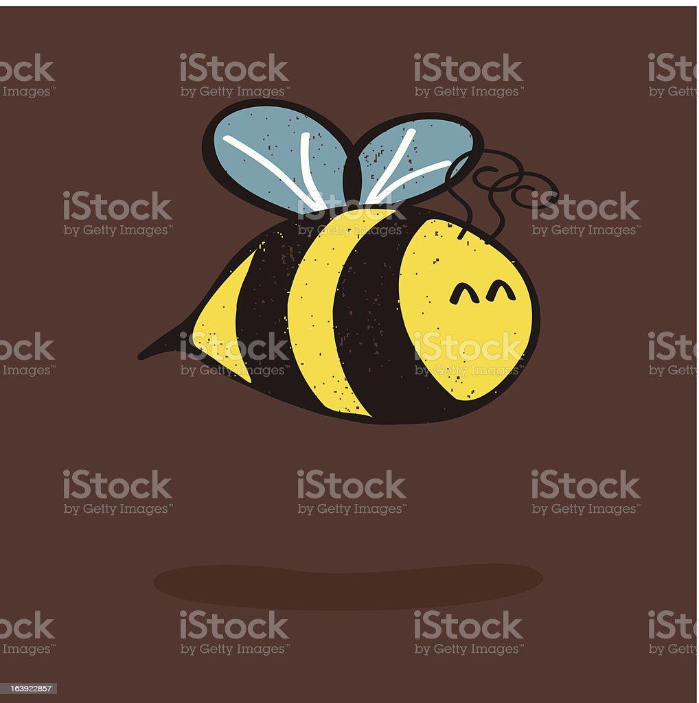 Cartoon bee with shadow royalty-free stock vector art