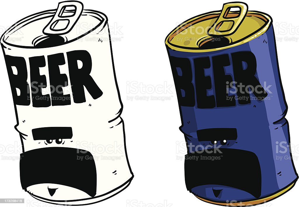Cartoon beer can vector art illustration