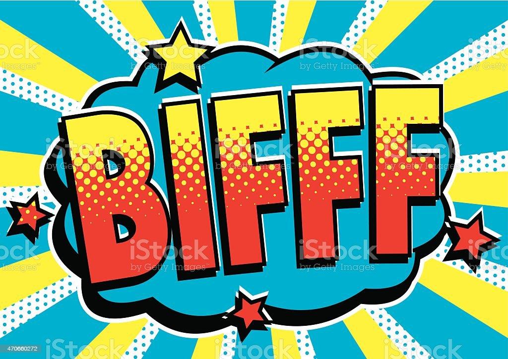 Cartoon 'Biff' Text vector art illustration