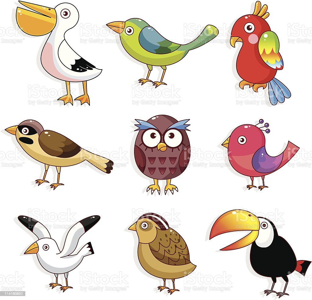 cartoon bird icon royalty-free stock vector art