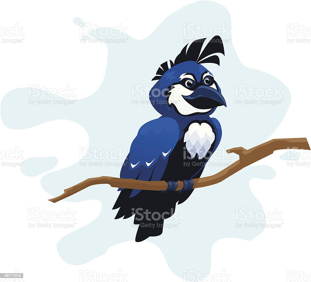 Cartoon Blue Jay royalty-free stock vector art