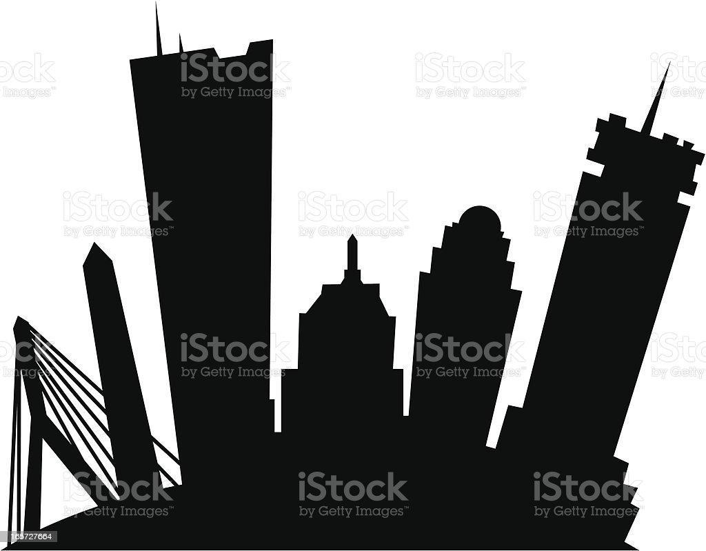 Cartoon Boston Silhouette royalty-free stock vector art