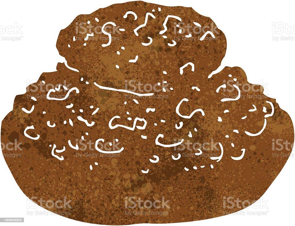 cartoon bread royalty-free stock vector art