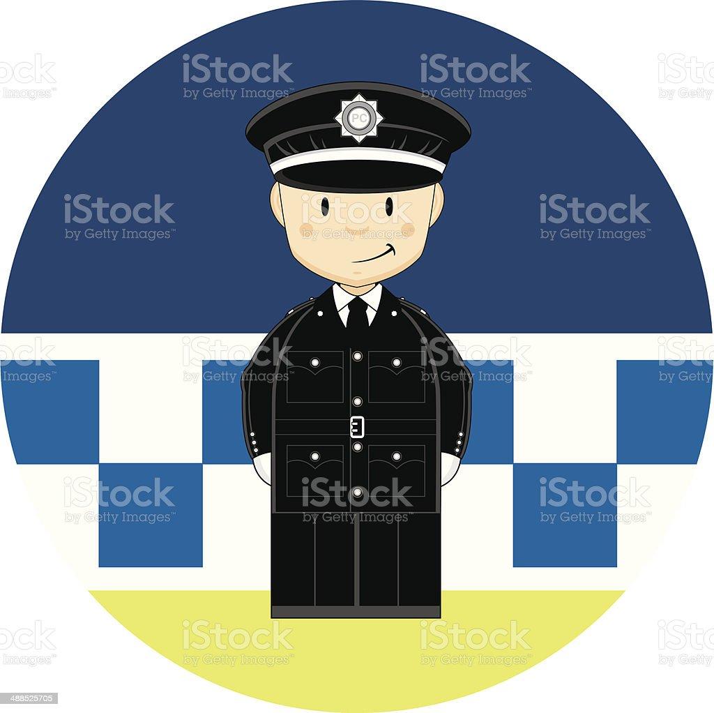 cartoon british policemen stock vector art 488525705 istock