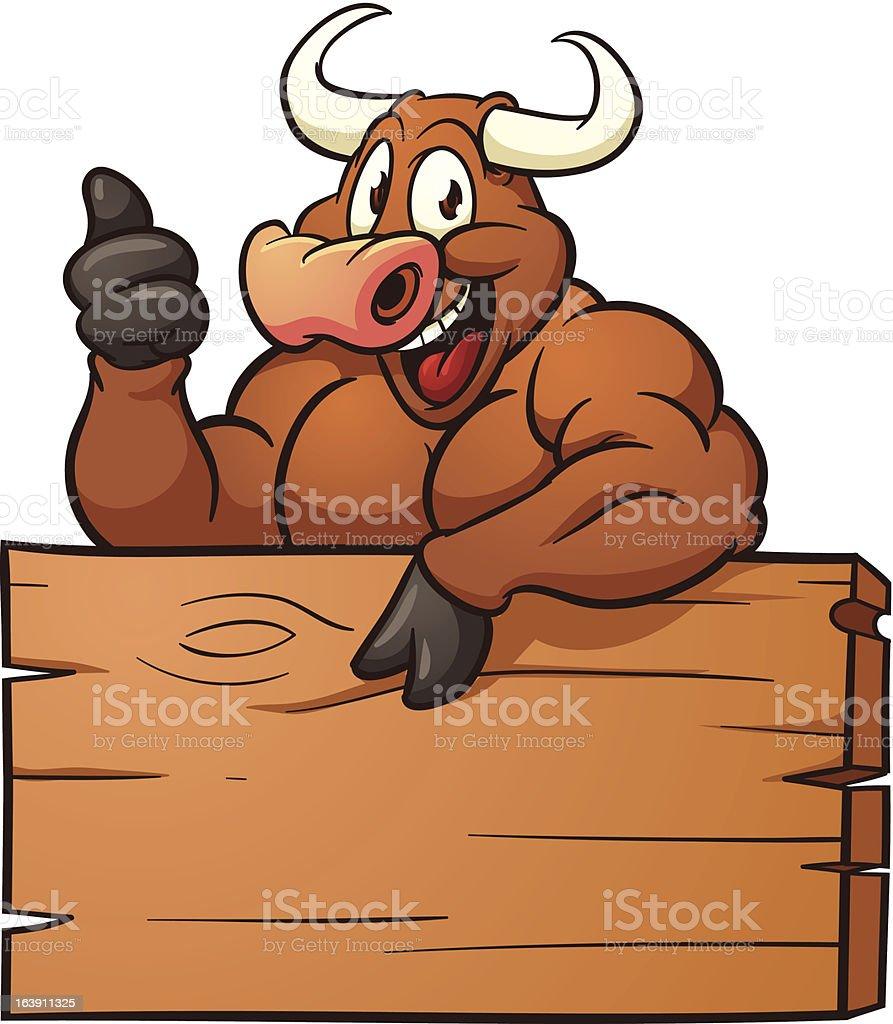 Cartoon Bull vector art illustration