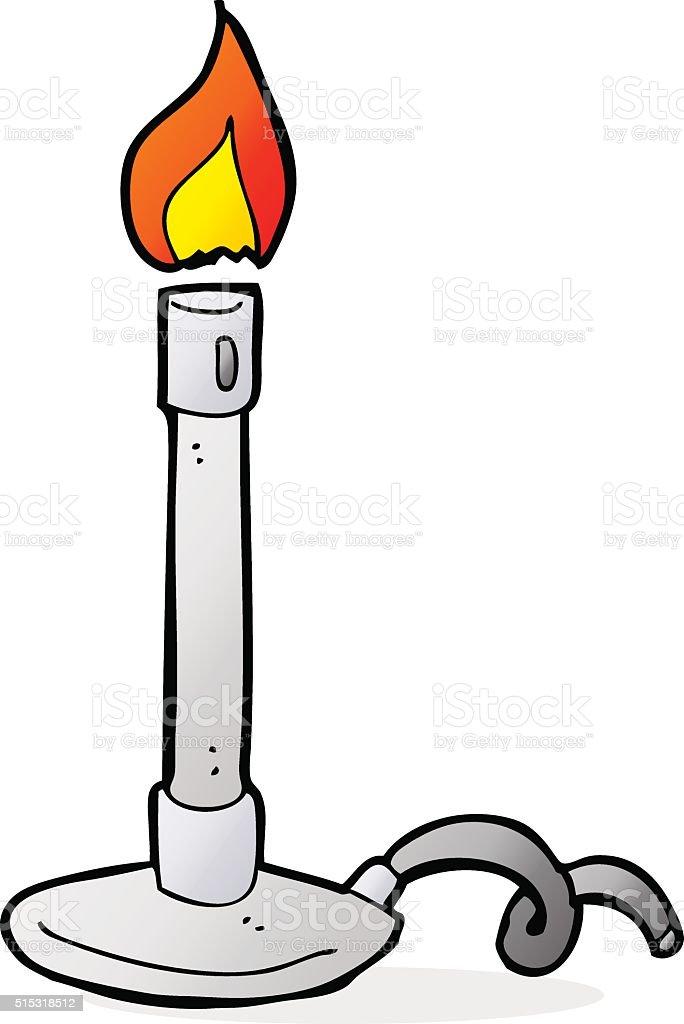 cartoon bunsen burner vector art illustration