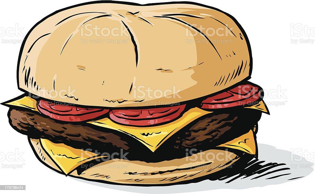 Cartoon burger royalty-free stock vector art