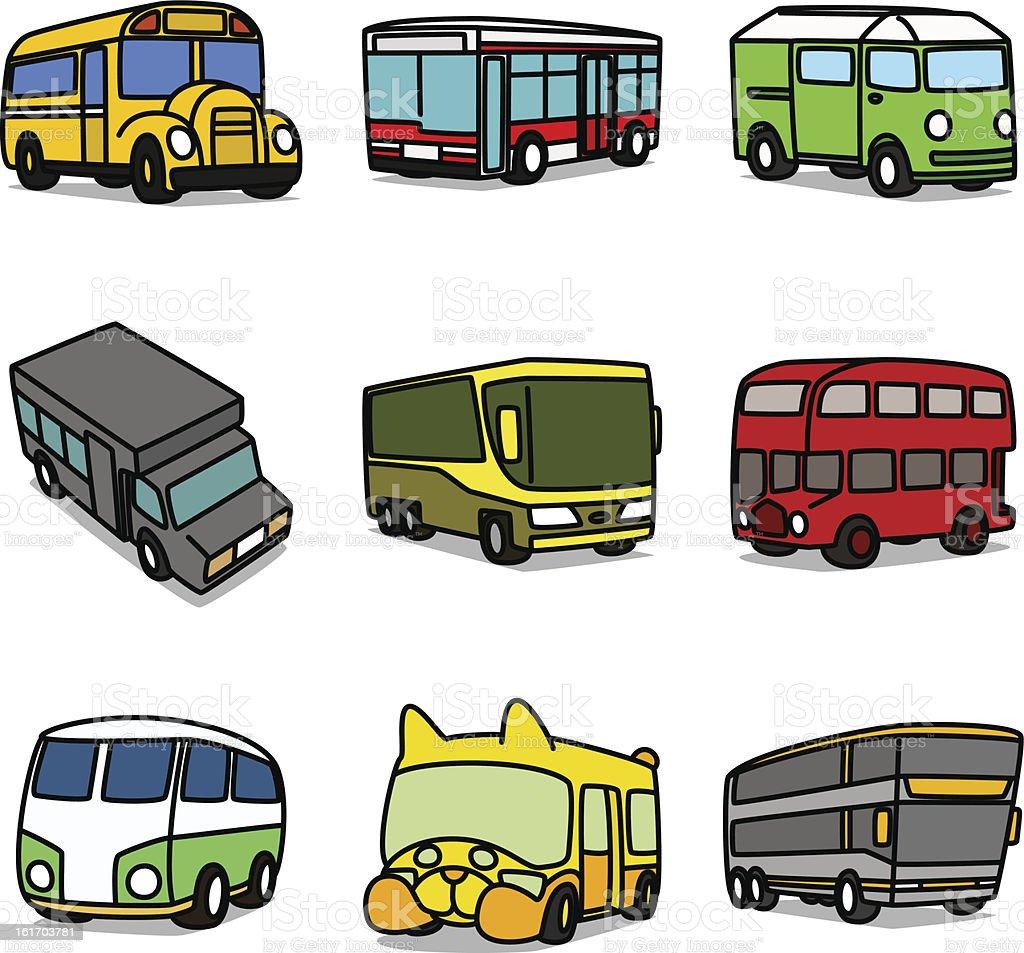 Cartoon Buses royalty-free stock vector art