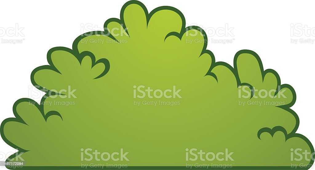 cartoon bush element vector vector art illustration