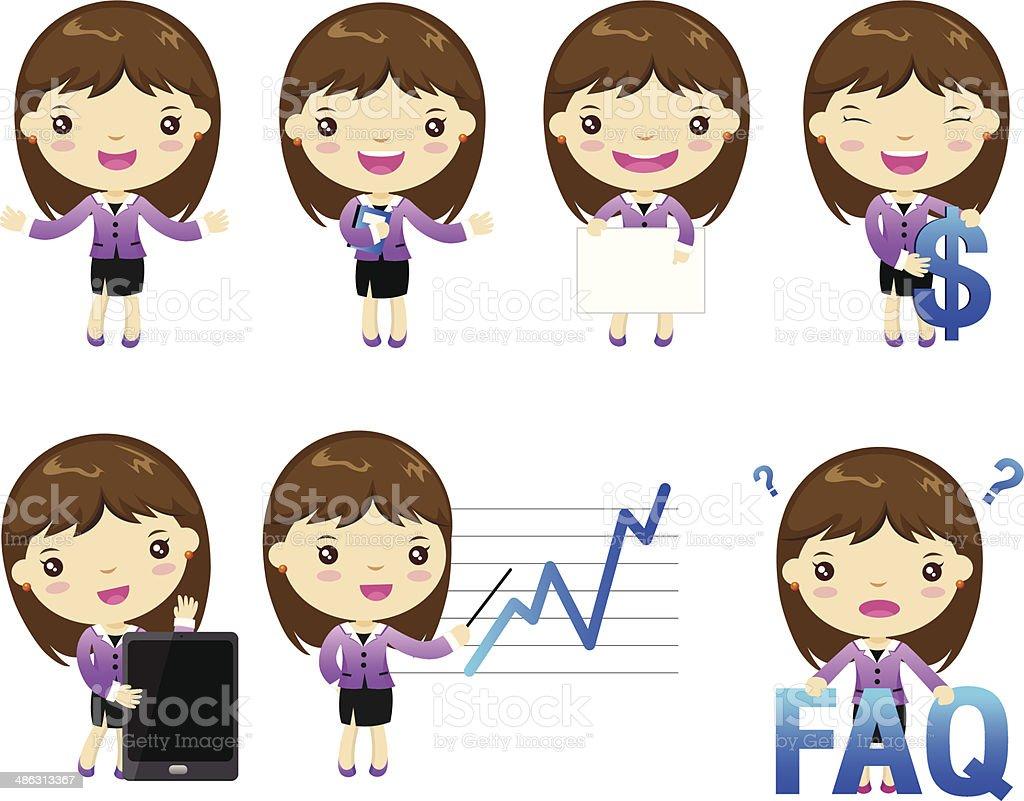 cartoon business people royalty-free stock vector art