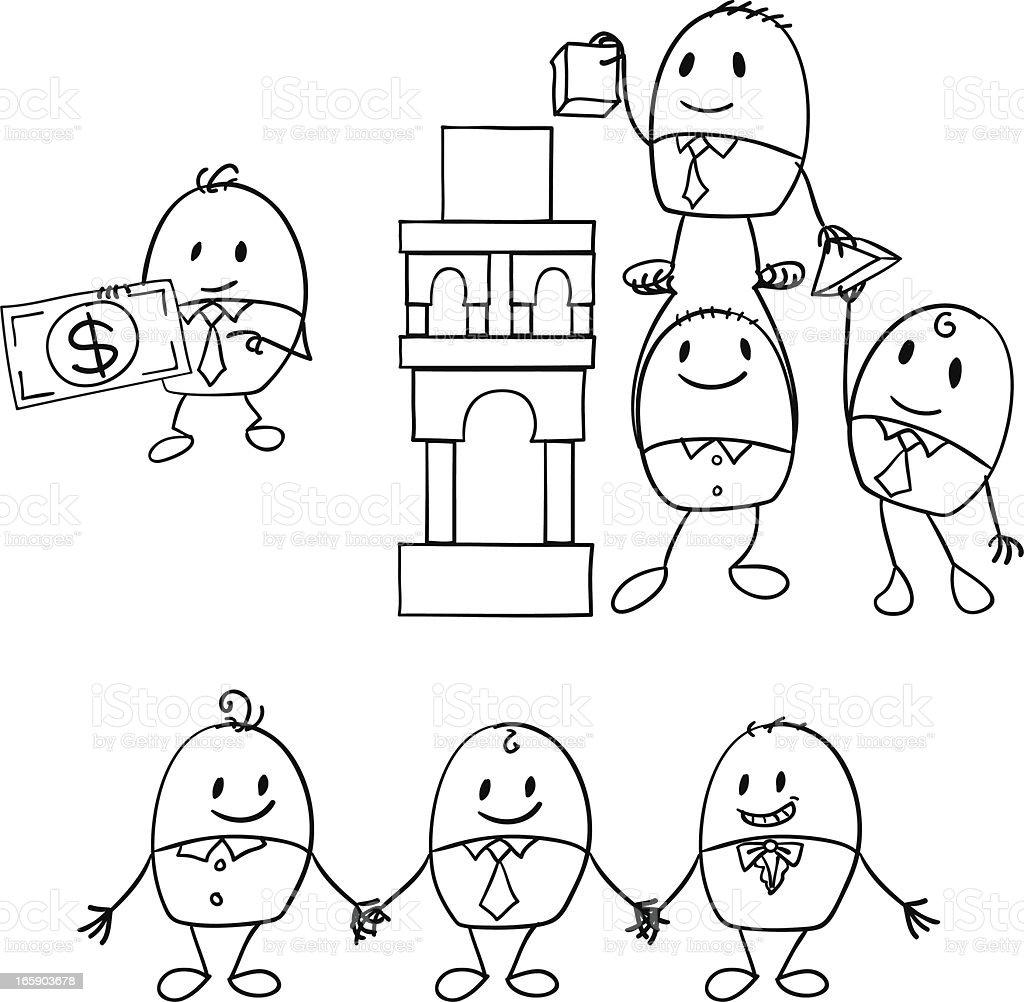 Cartoon businessman illustration royalty-free stock vector art