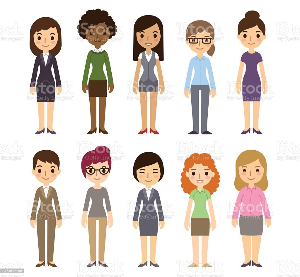 Cartoon Businesswomen vector art illustration