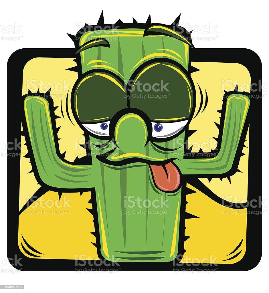 cartoon cactus royalty-free stock vector art