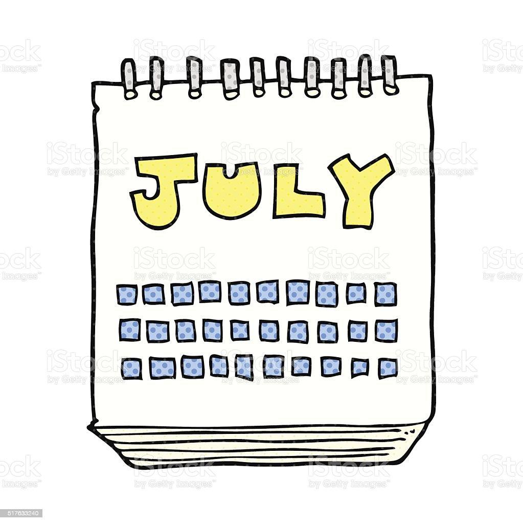 Картинки по запросу календарь июль рисунок