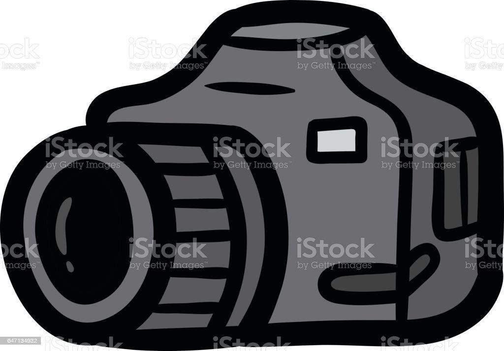 Cartoon Camera Vector Illustration stock vector art 647134932 | iStock