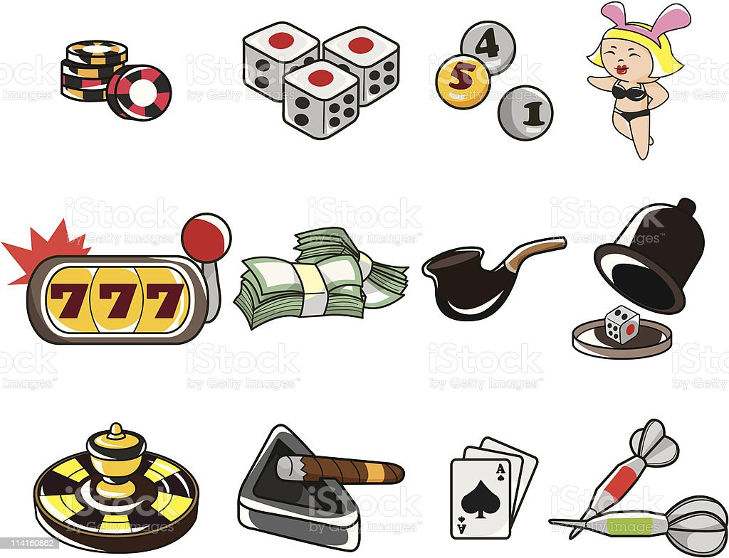 cartoon casino icon royalty-free stock vector art