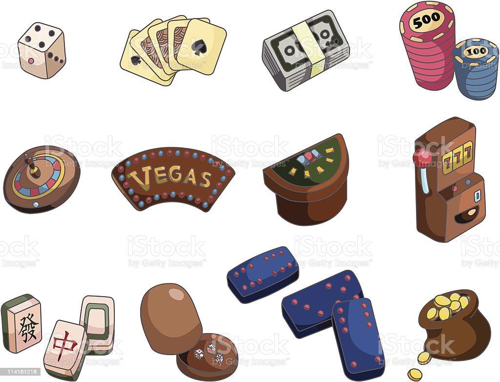 cartoon casino icon royalty-free stock vector art