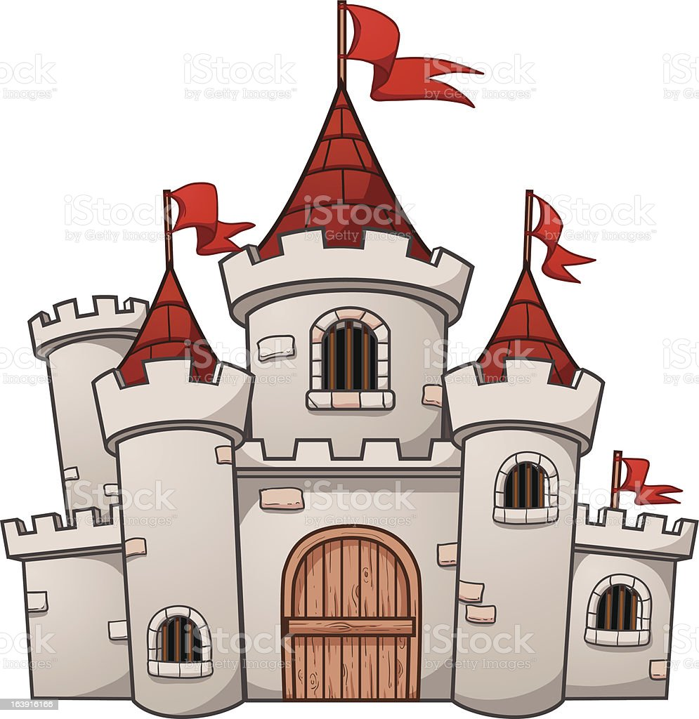 Cartoon castle royalty-free stock vector art