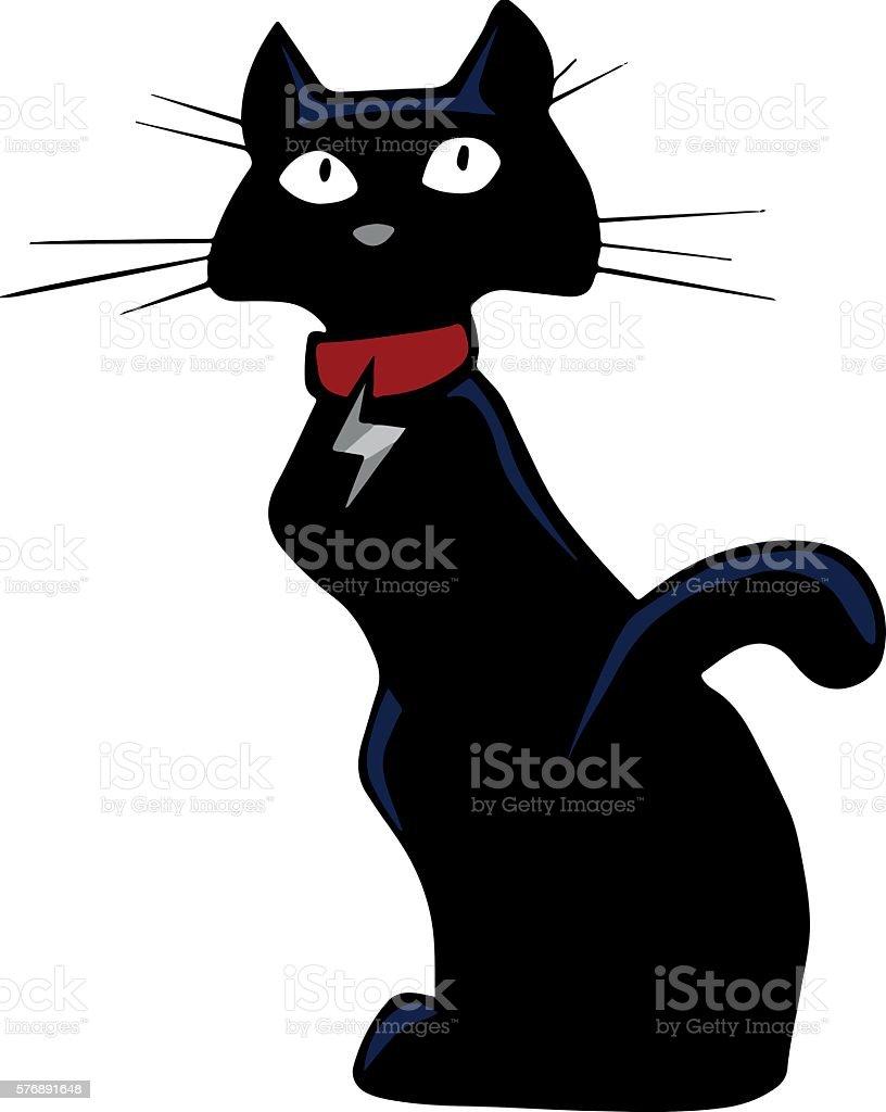 Cartoon cat vector art illustration