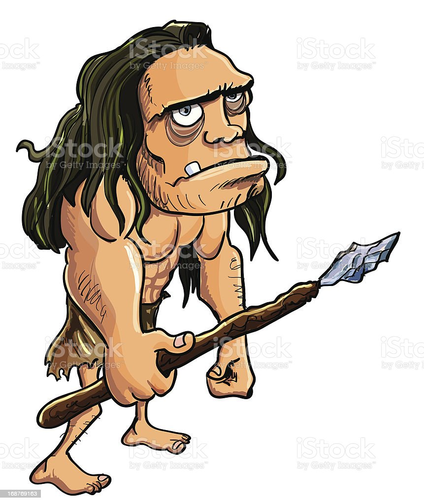 Cartoon caveman royalty-free stock vector art