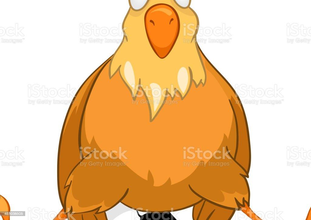 рисунок курицы из мультика