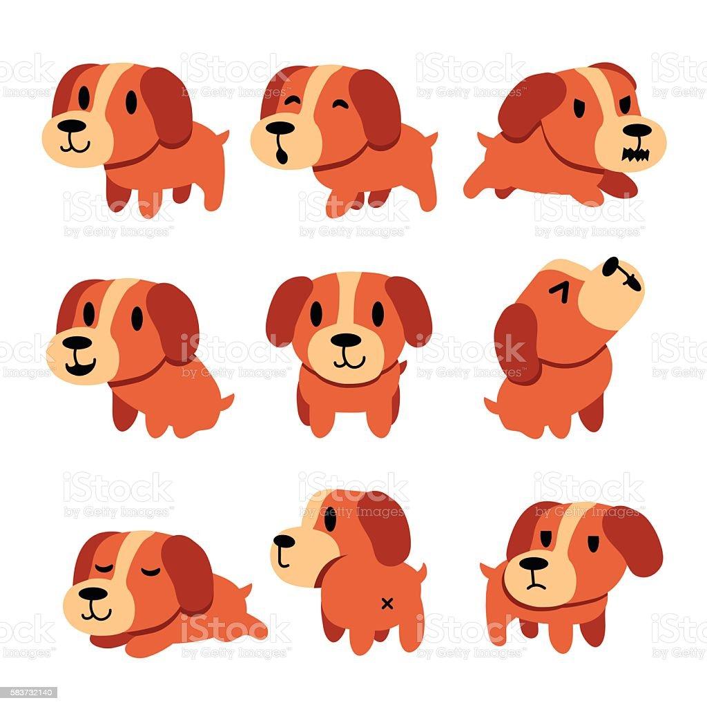 cartoon character dog poses set stock vector art 583732140 istock