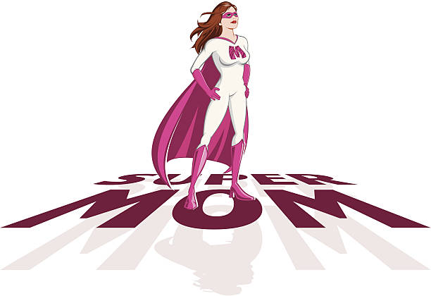 Supermom Clip Art, Vector Images & Illustrations - iStock