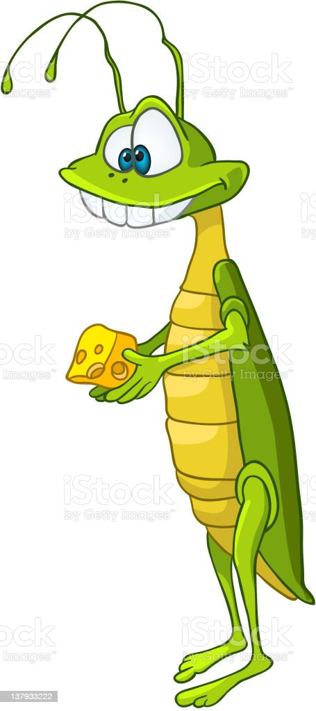 Cartoon Character Locust vector art illustration