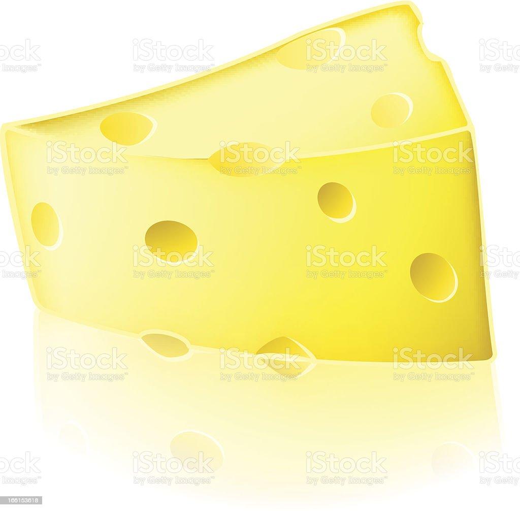 Cartoon cheese illustration royalty-free stock vector art