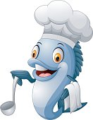 Cartoon chef fish