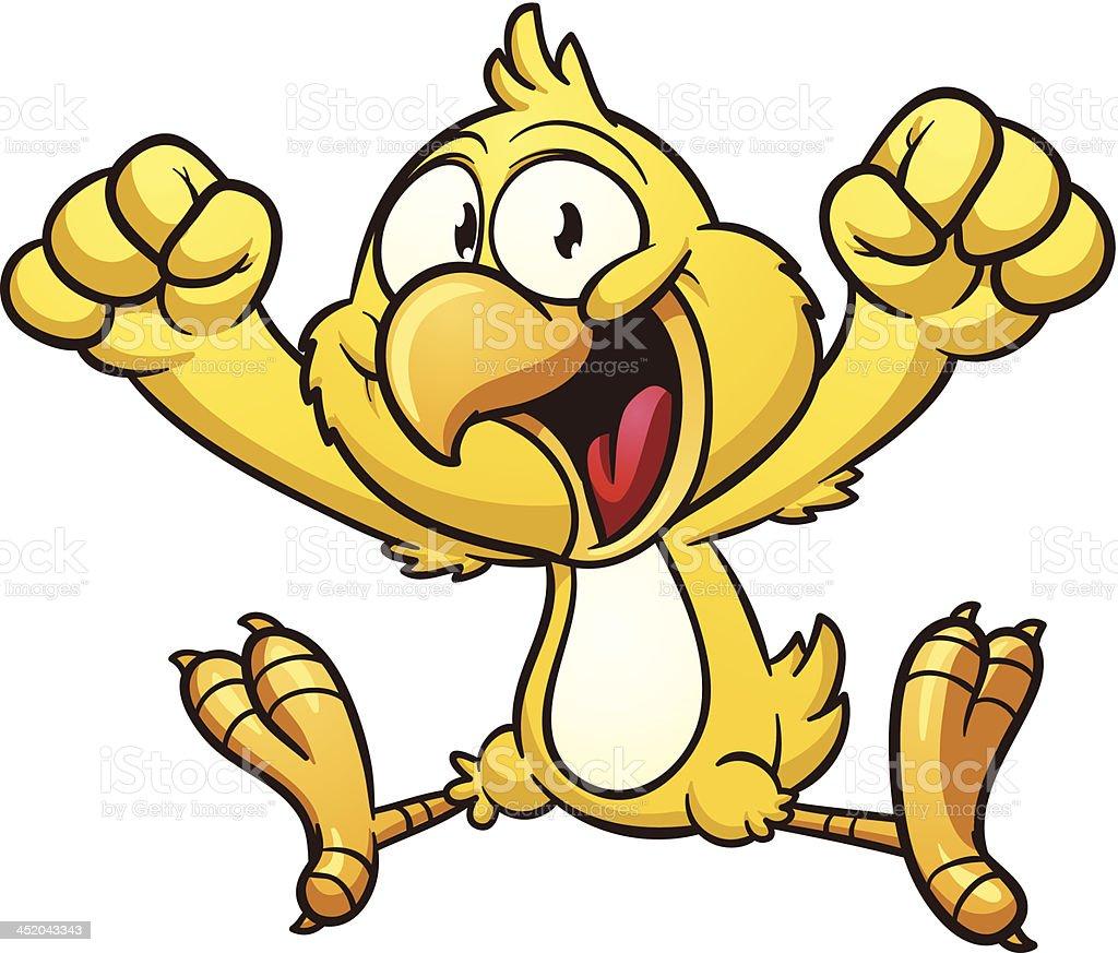 Cartoon chicken royalty-free stock vector art