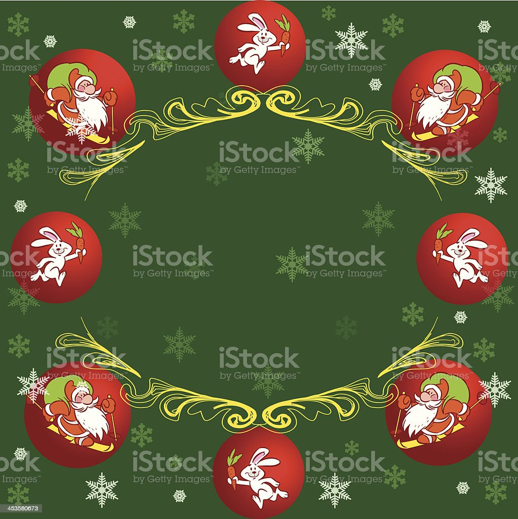 cartoon Christmas card royalty-free stock vector art
