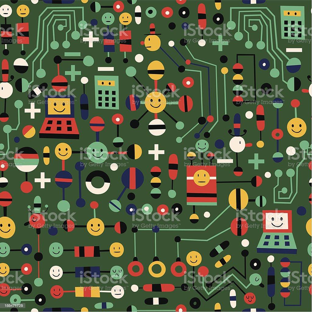 cartoon circuit board royalty-free stock vector art