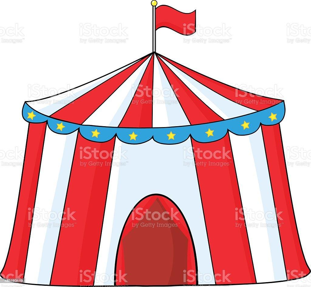 Cartoon Circus Tent stock vector art 485193449 | iStock