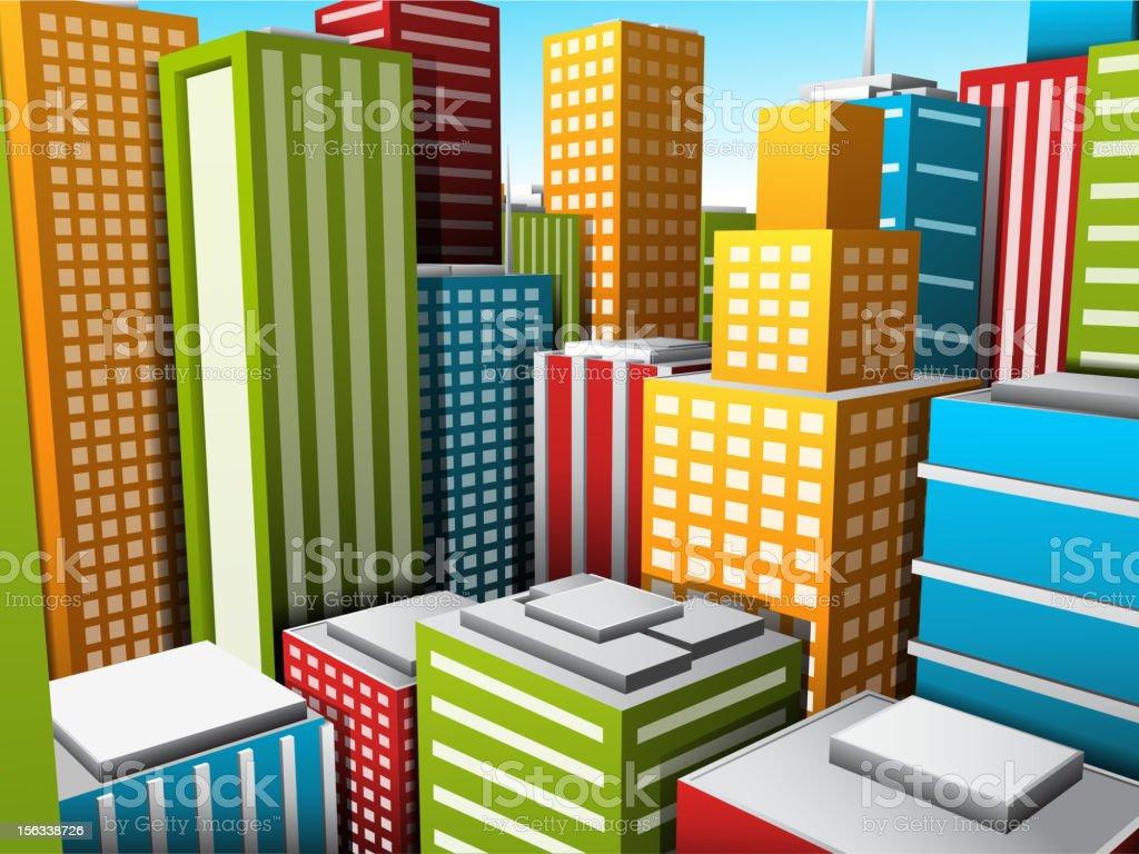 Cartoon city royalty-free stock vector art