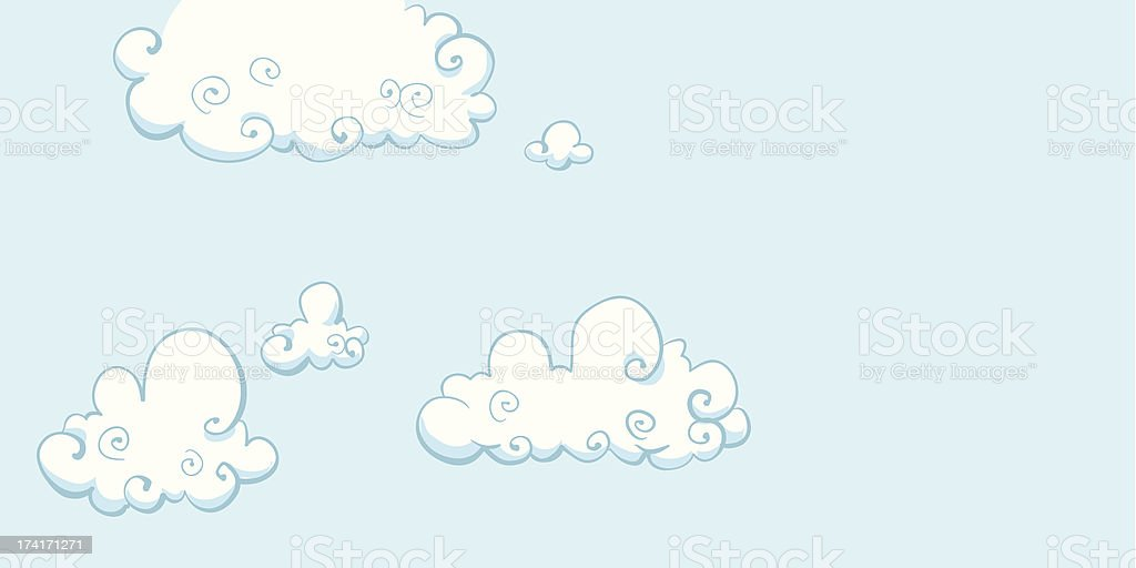 Cartoon Clouds royalty-free stock vector art