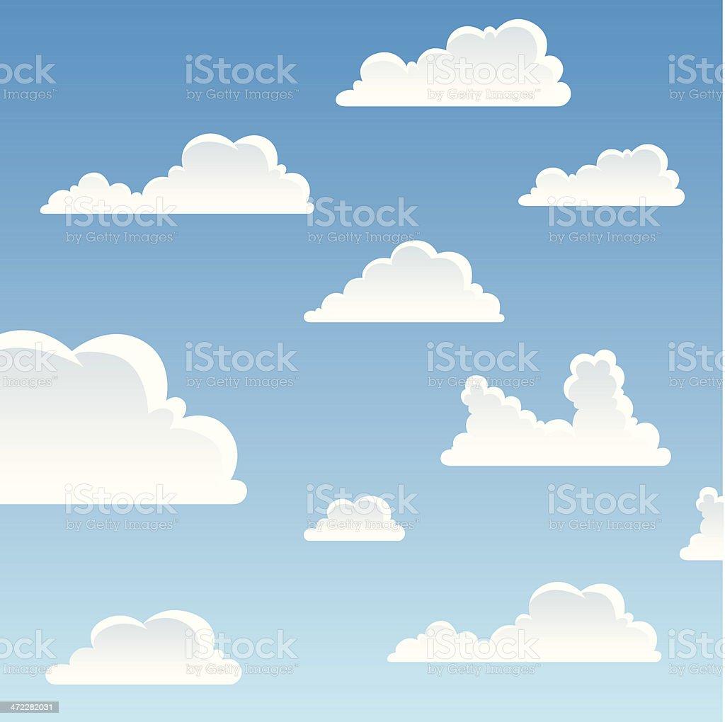 Cartoon Cloudscape royalty-free stock vector art